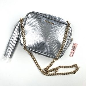 Victorias Secret | Metallic Silver Snakeskin Bag